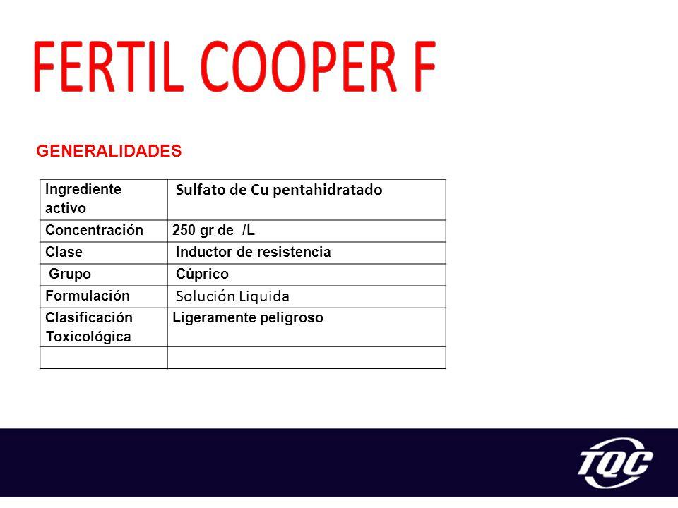 FERTIL COOPER F Sulfato de Cu pentahidratado GENERALIDADES