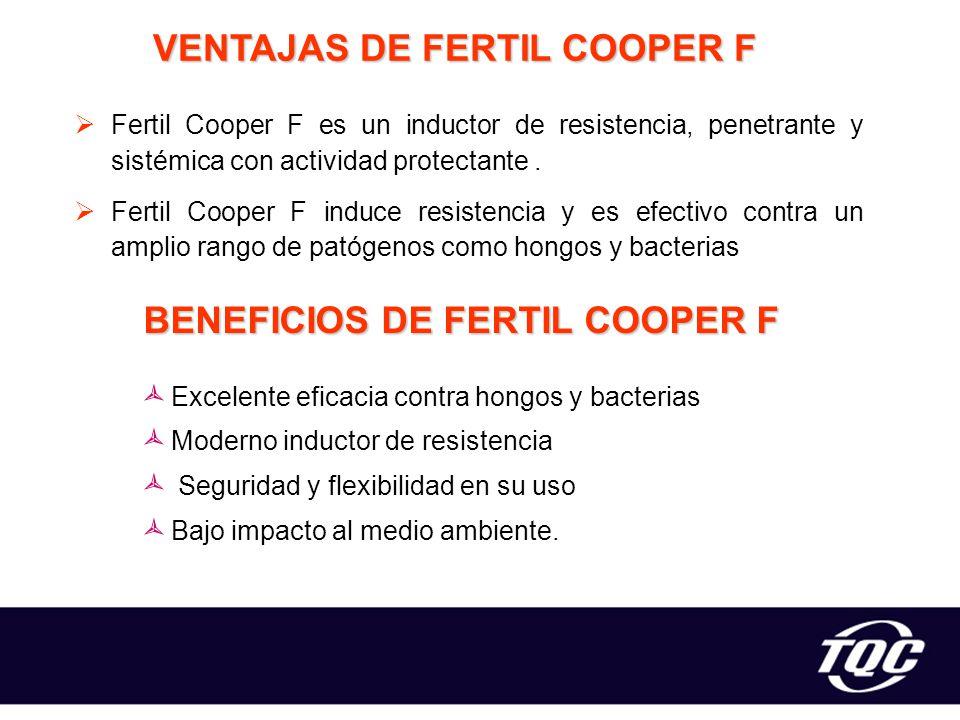 VENTAJAS DE FERTIL COOPER F BENEFICIOS DE FERTIL COOPER F