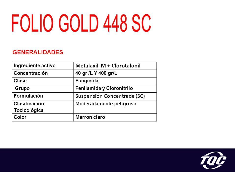 FOLIO GOLD 448 SC Metalaxil M + Clorotalonil