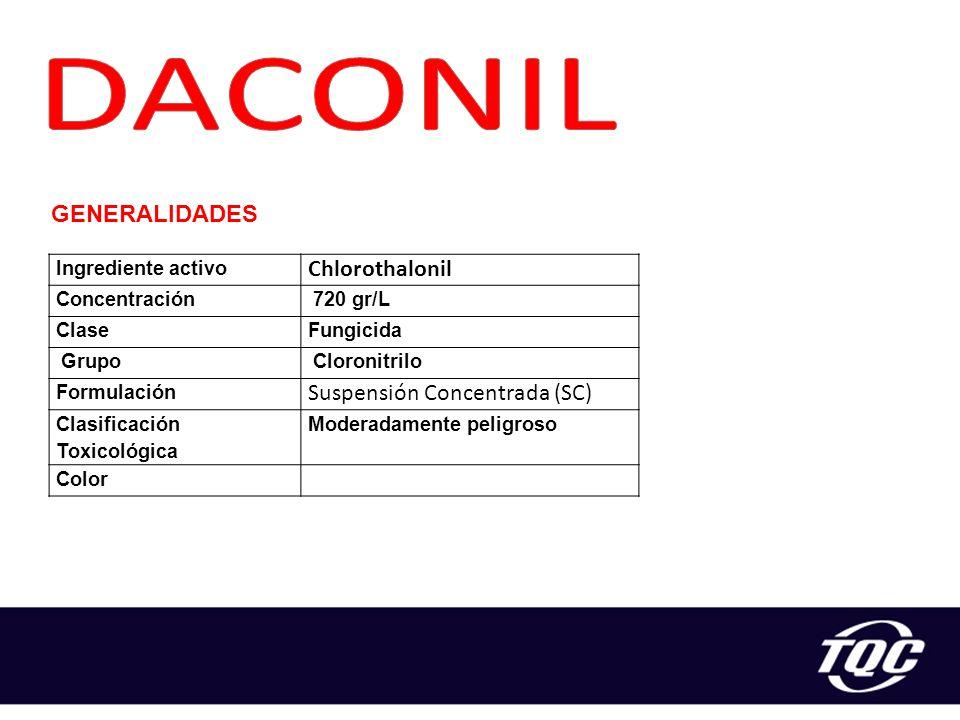 DACONIL Chlorothalonil Suspensión Concentrada (SC) GENERALIDADES