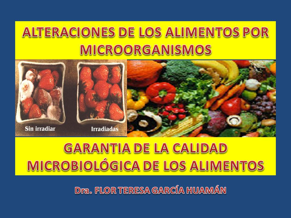 ALTERACIONES DE LOS ALIMENTOS POR MICROORGANISMOS