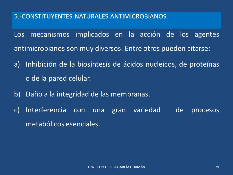 5.-CONSTITUYENTES NATURALES ANTIMICROBIANOS.