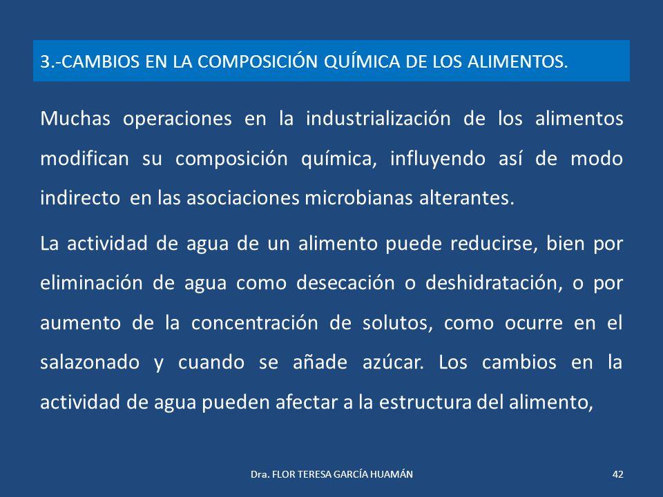 3.-CAMBIOS EN LA COMPOSICIÓN QUÍMICA DE LOS ALIMENTOS.