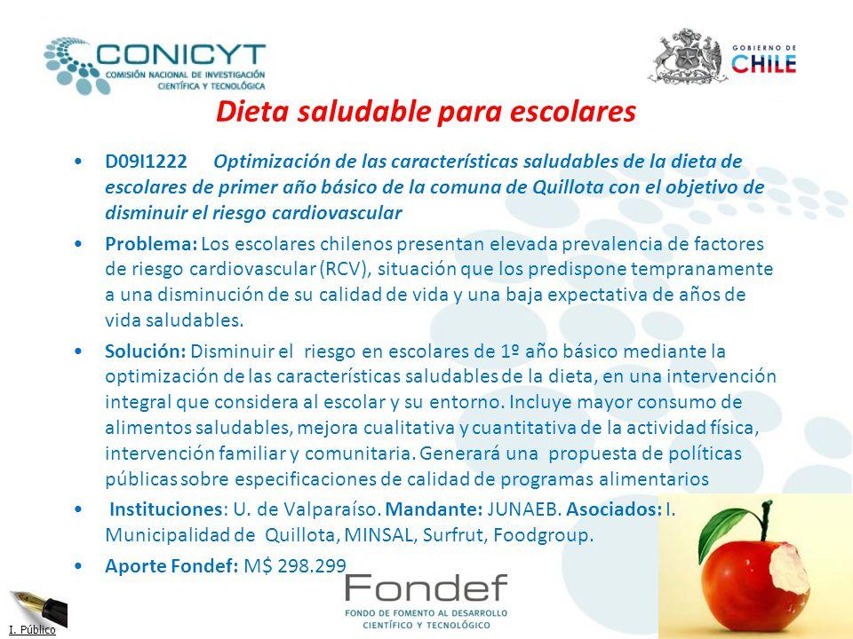 Dieta saludable para escolares