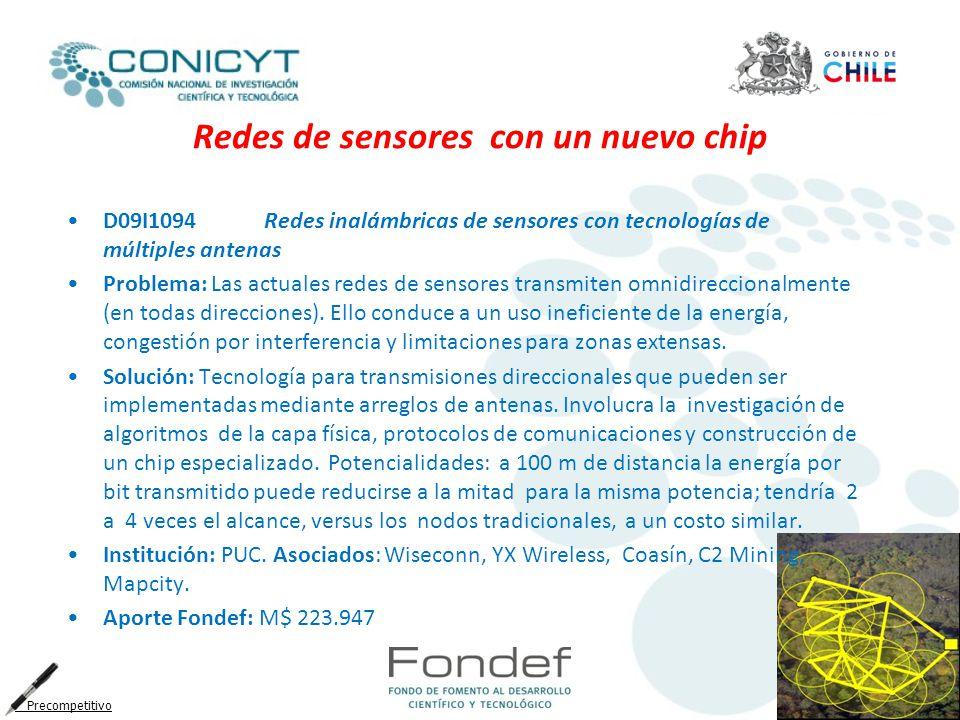 Redes de sensores con un nuevo chip