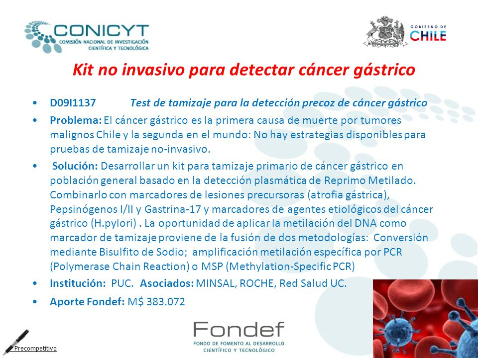 Kit no invasivo para detectar cáncer gástrico