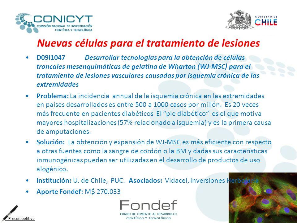 Nuevas células para el tratamiento de lesiones