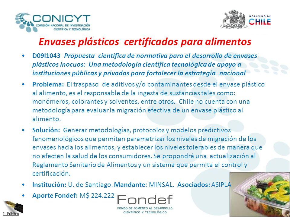 Envases plásticos certificados para alimentos