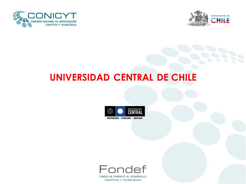 UNIVERSIDAD CENTRAL DE CHILE