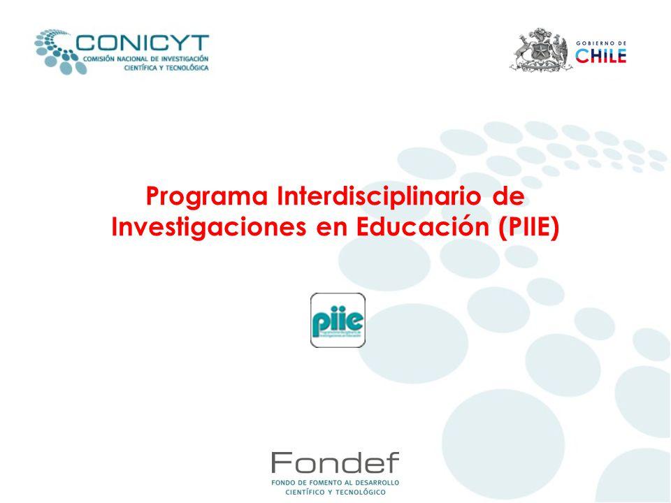 Programa Interdisciplinario de Investigaciones en Educación (PIIE)