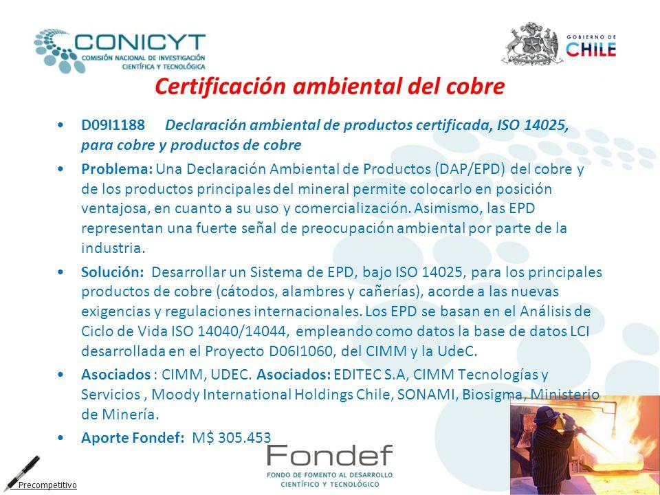 Certificación ambiental del cobre