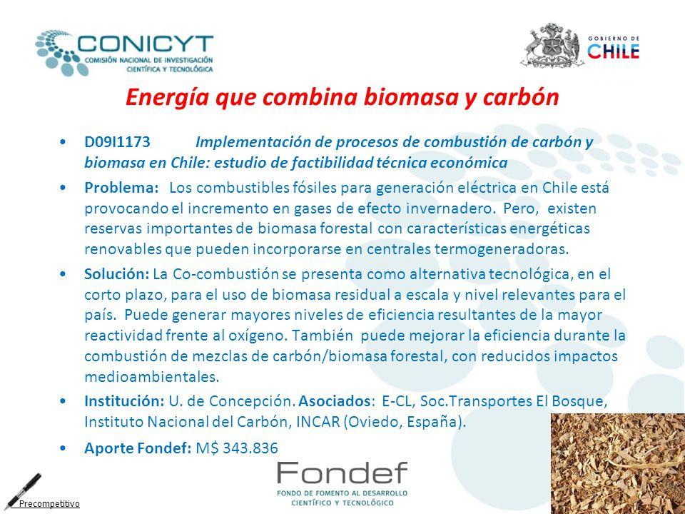 Energía que combina biomasa y carbón