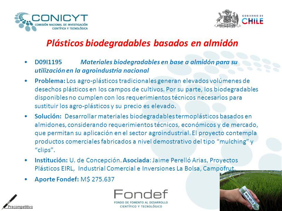 Plásticos biodegradables basados en almidón