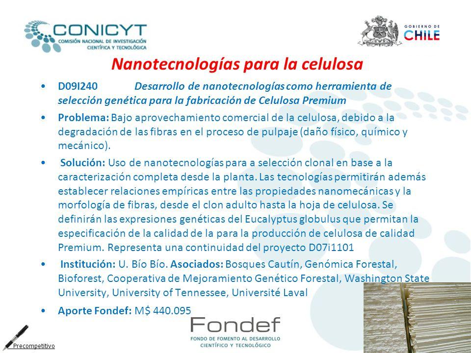 Nanotecnologías para la celulosa