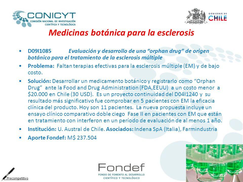 Medicinas botánica para la esclerosis
