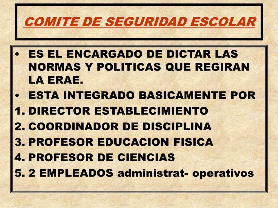 COMITE DE SEGURIDAD ESCOLAR