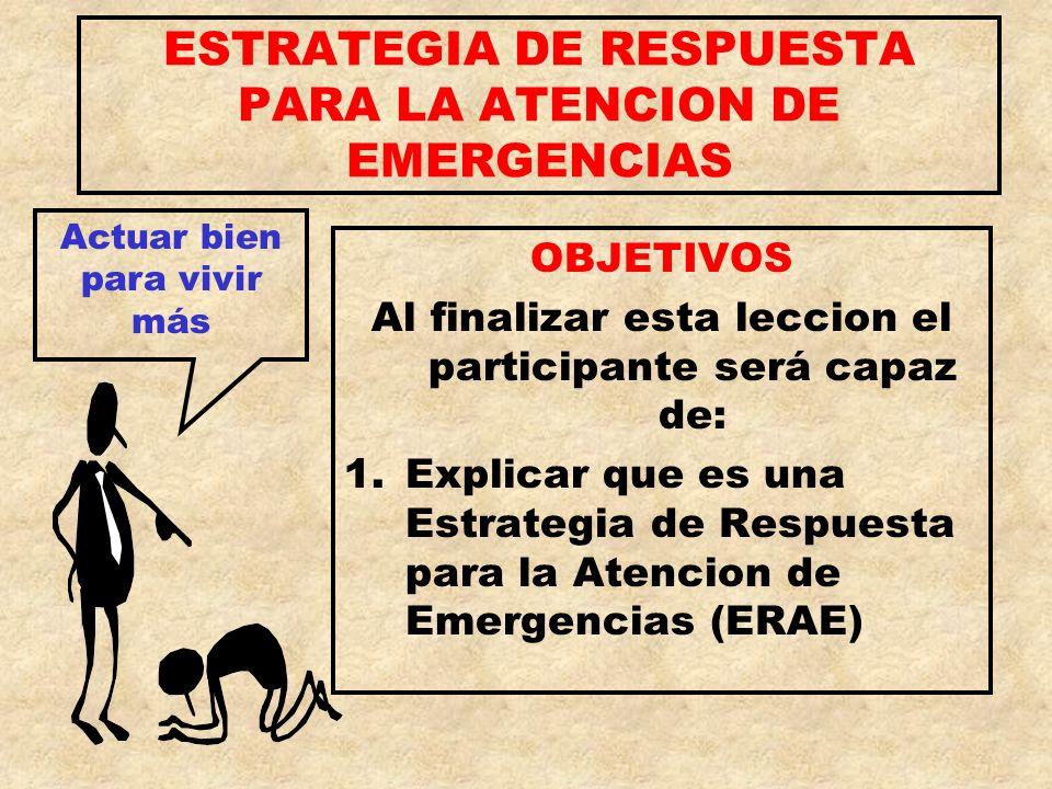 ESTRATEGIA DE RESPUESTA PARA LA ATENCION DE EMERGENCIAS