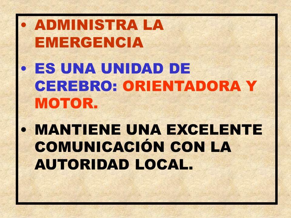 ADMINISTRA LA EMERGENCIA