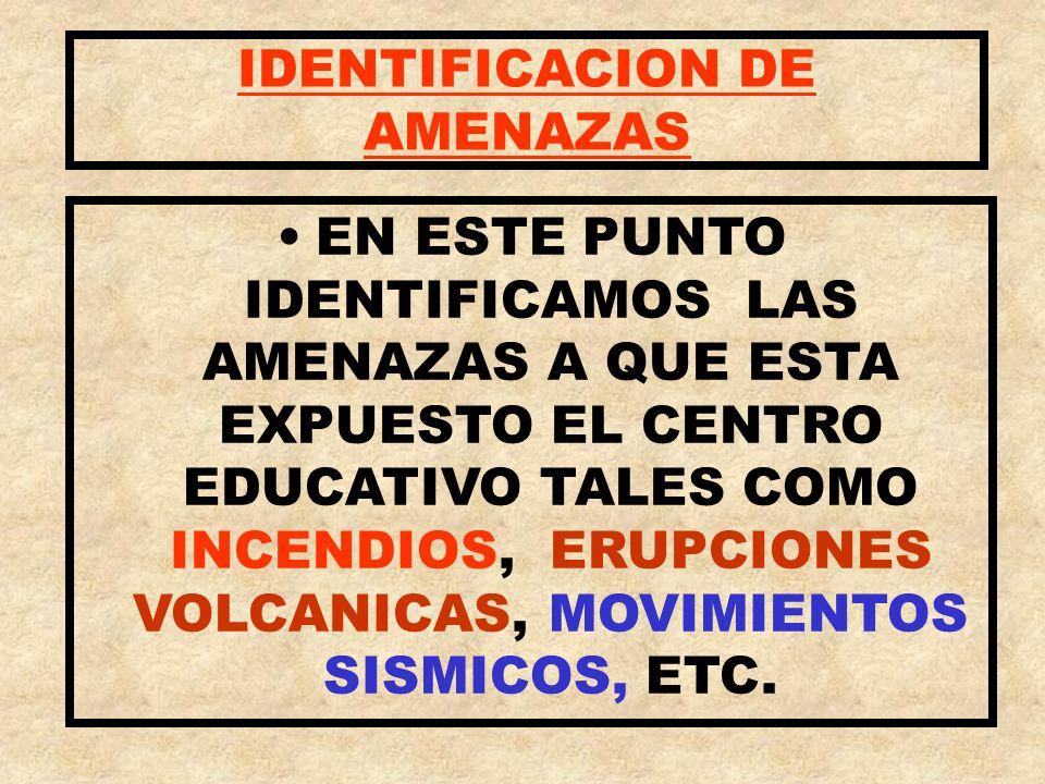 IDENTIFICACION DE AMENAZAS