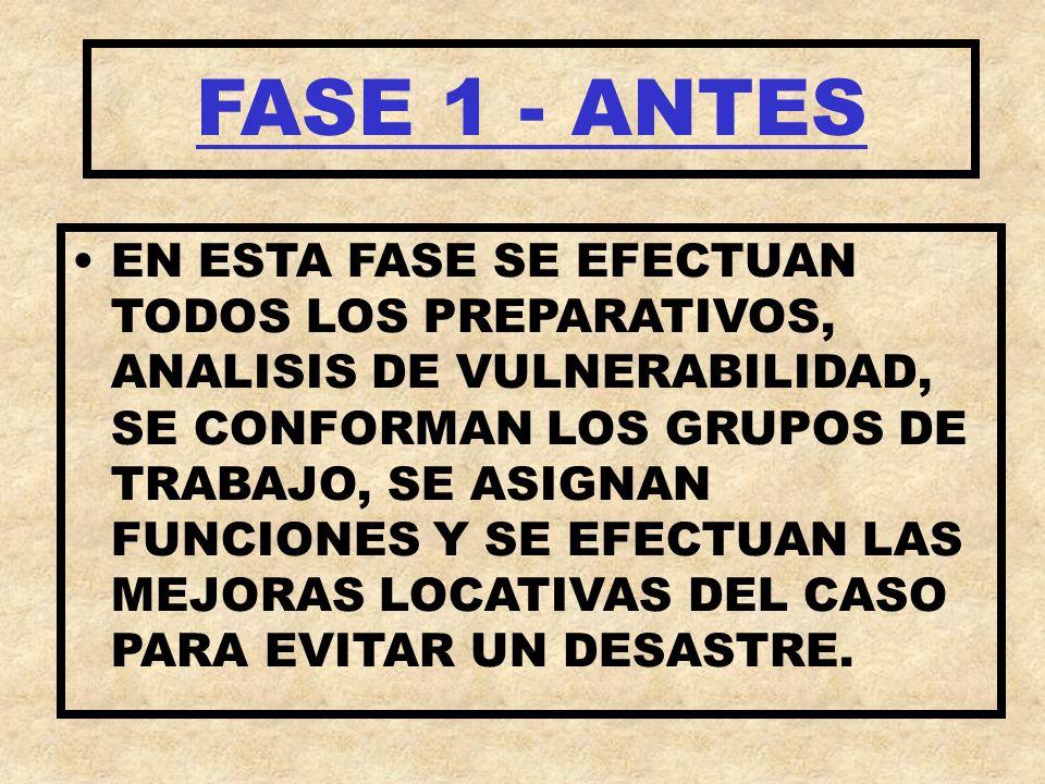 FASE 1 - ANTES