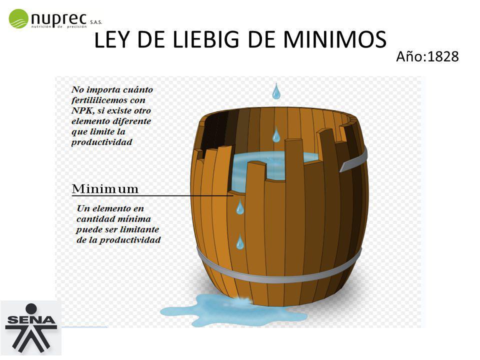 LEY DE LIEBIG DE MINIMOS