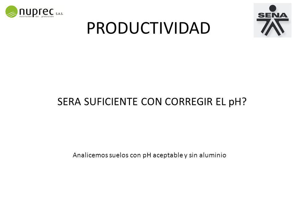 PRODUCTIVIDAD SERA SUFICIENTE CON CORREGIR EL pH