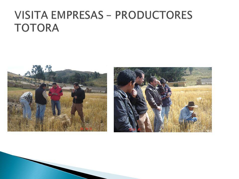 VISITA EMPRESAS – PRODUCTORES TOTORA