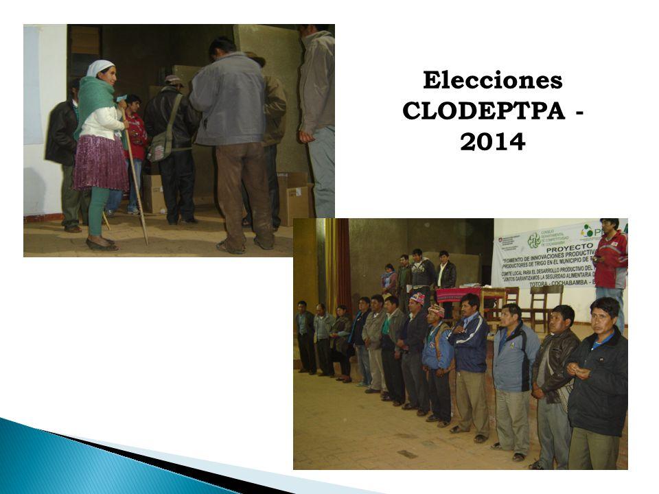 Elecciones CLODEPTPA - 2014
