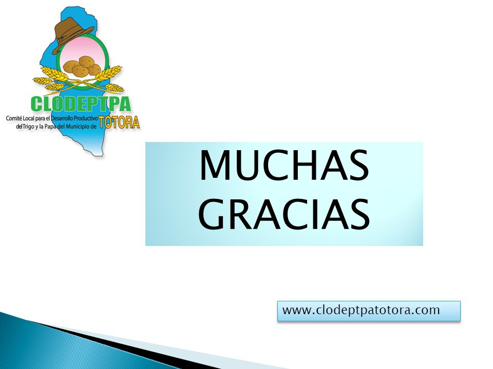 MUCHAS GRACIAS www.clodeptpatotora.com