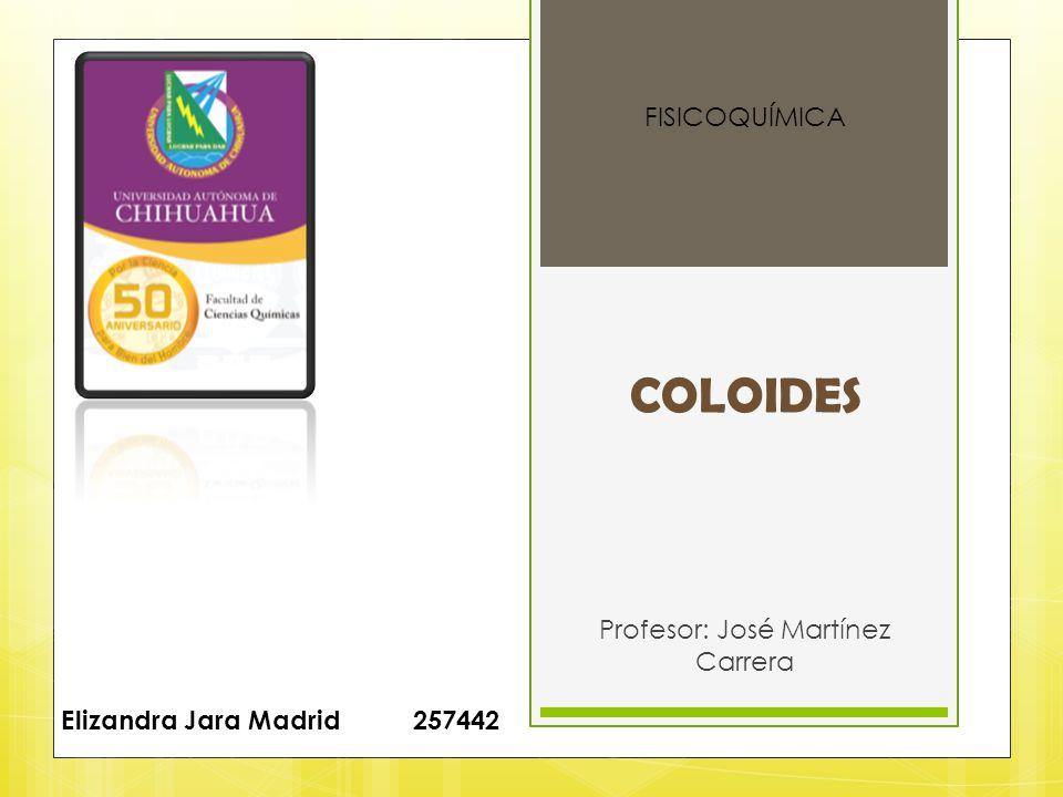 Profesor: José Martínez Carrera