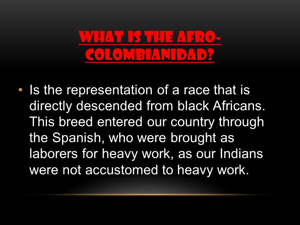 What is the afro- colombianidad