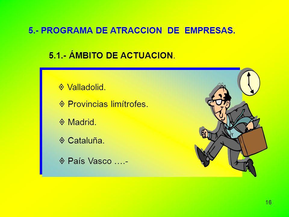 5.- PROGRAMA DE ATRACCION DE EMPRESAS.
