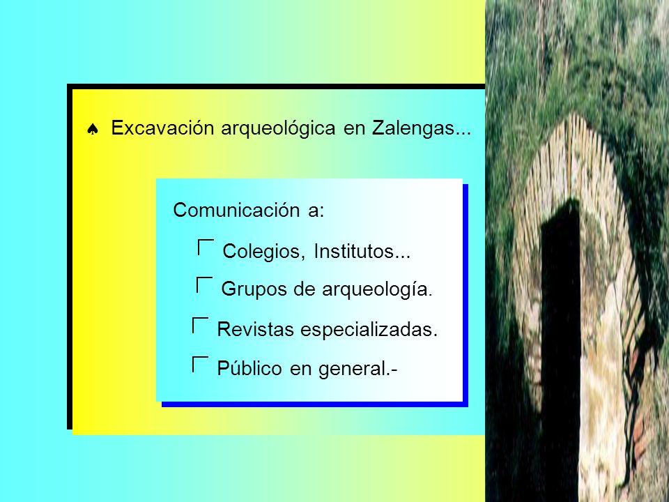  Excavación arqueológica en Zalengas...