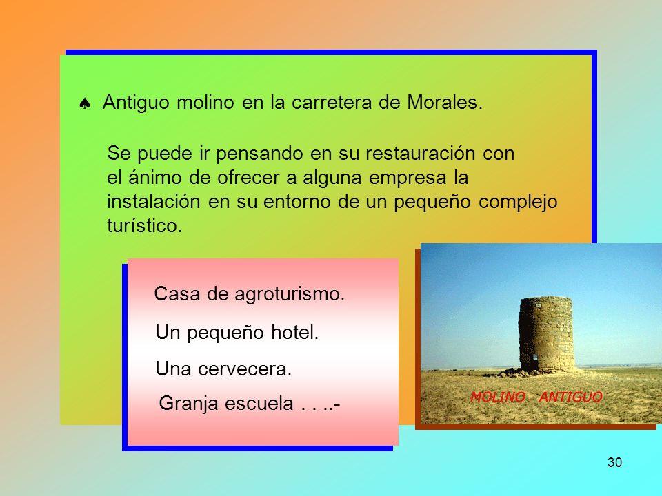  Antiguo molino en la carretera de Morales.