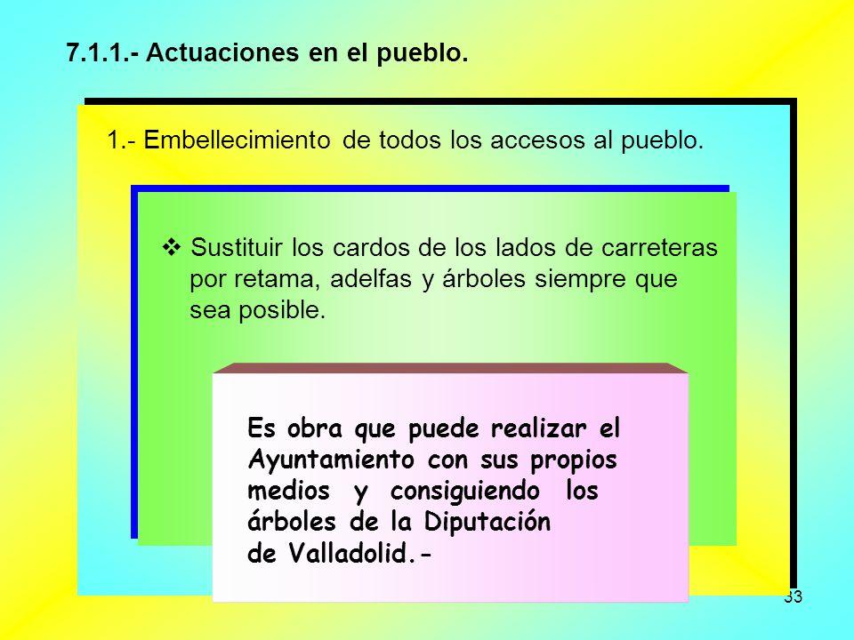 7.1.1.- Actuaciones en el pueblo.