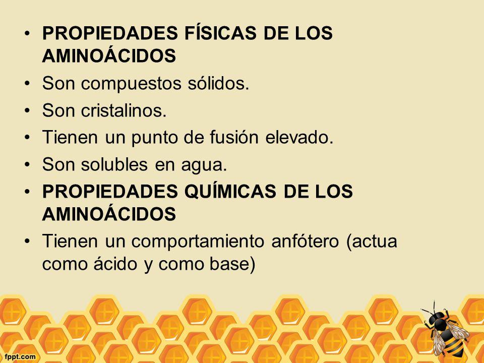 PROPIEDADES FÍSICAS DE LOS AMINOÁCIDOS