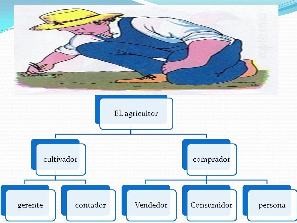 EL agricultor cultivador gerente contador comprador Vendedor Consumidor persona