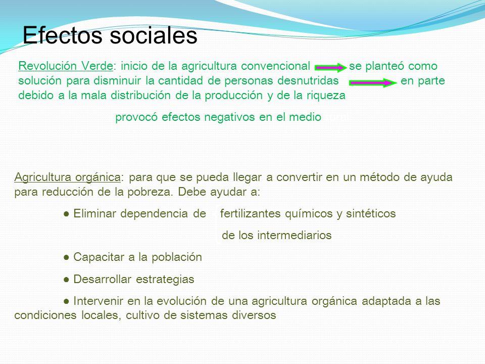 Efectos sociales