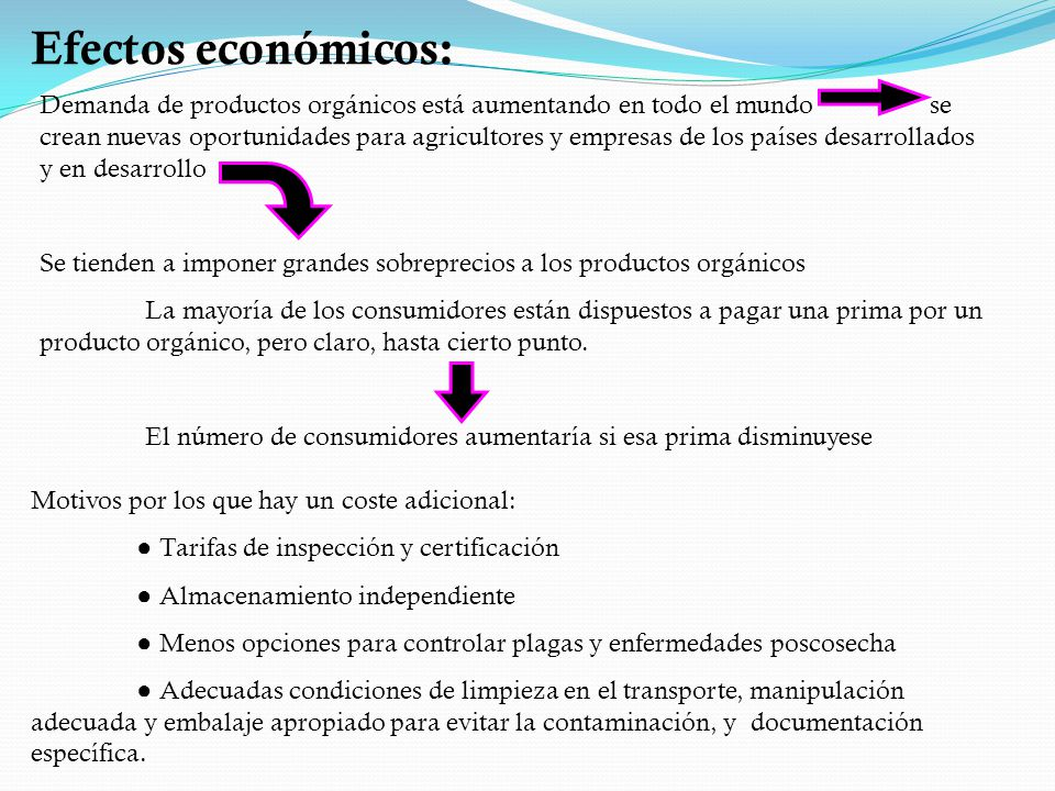 Efectos económicos: