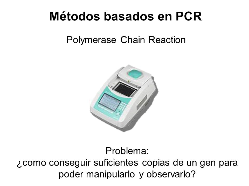 Métodos basados en PCR Polymerase Chain Reaction Problema: