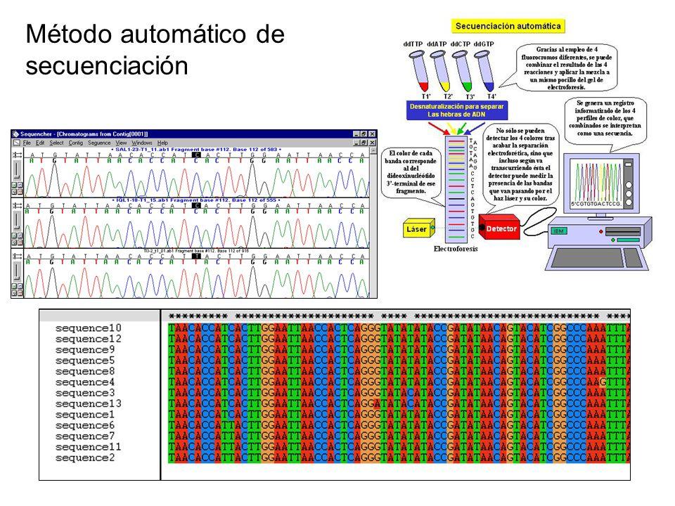 Método automático de secuenciación