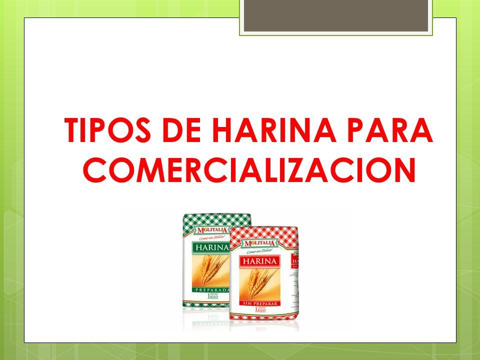 TIPOS DE HARINA PARA COMERCIALIZACION