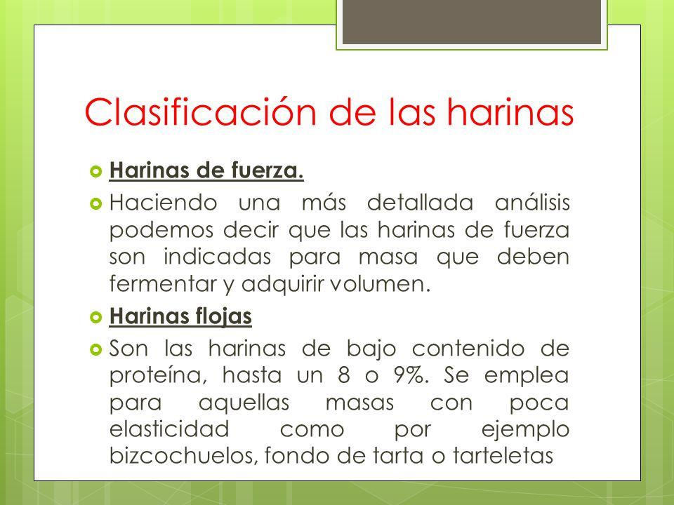 Clasificación de las harinas