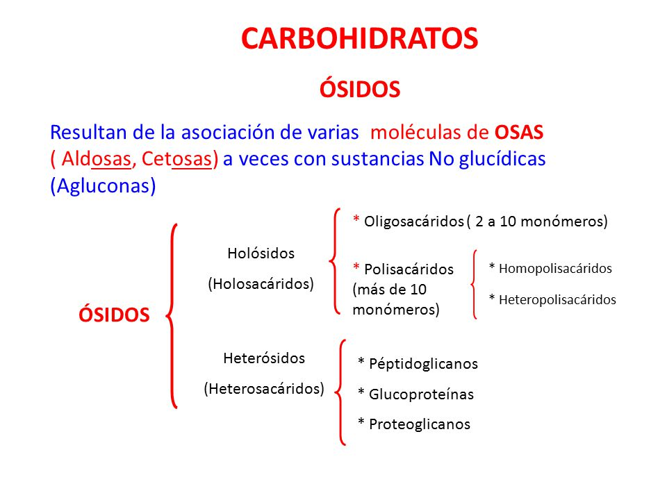 CARBOHIDRATOS ÓSIDOS.