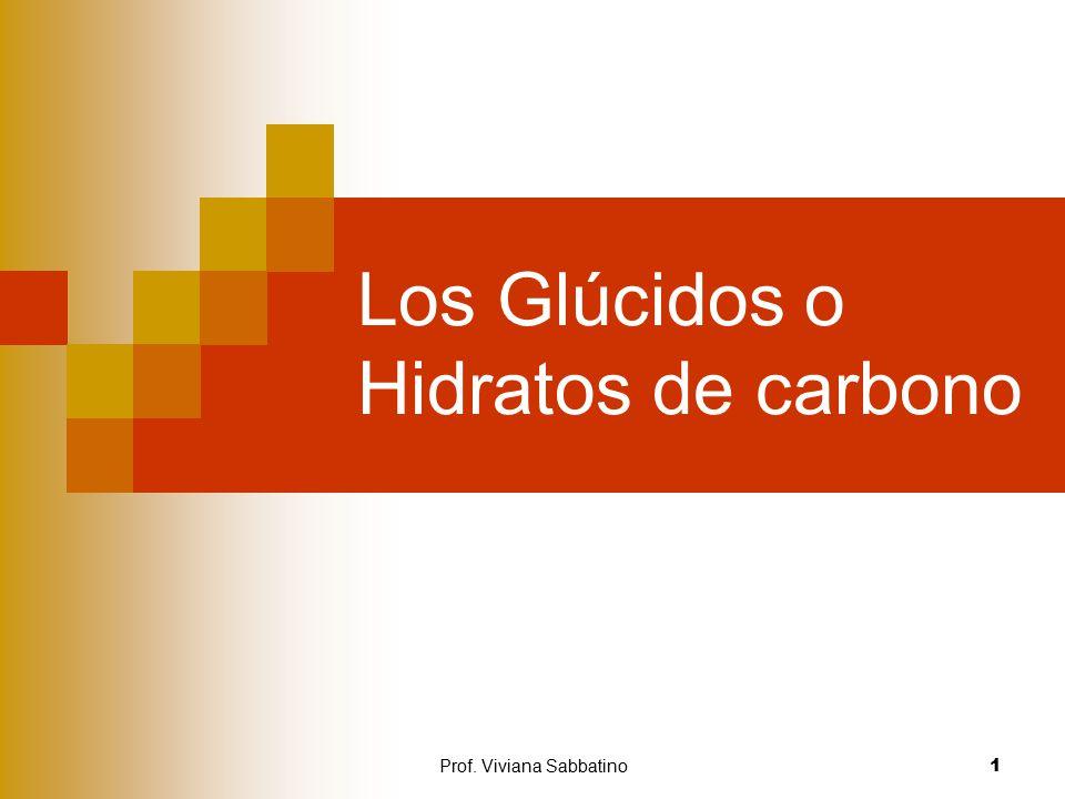 Los Glúcidos o Hidratos de carbono