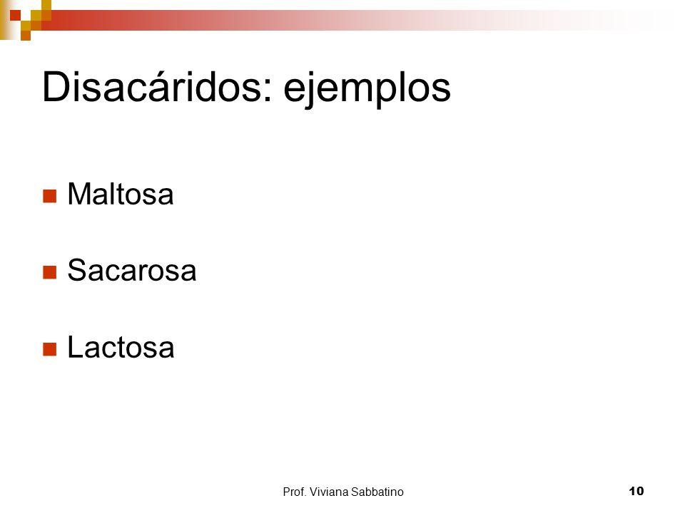 Disacáridos: ejemplos