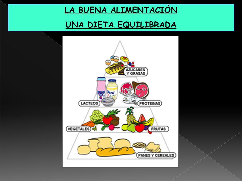 LA BUENA ALIMENTACIÓN UNA DIETA EQUILIBRADA