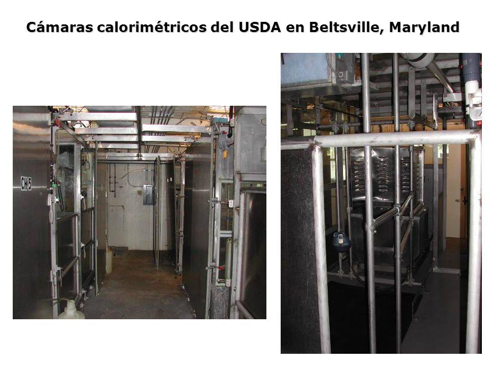 Cámaras calorimétricos del USDA en Beltsville, Maryland