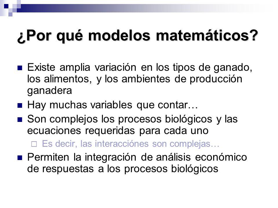 ¿Por qué modelos matemáticos