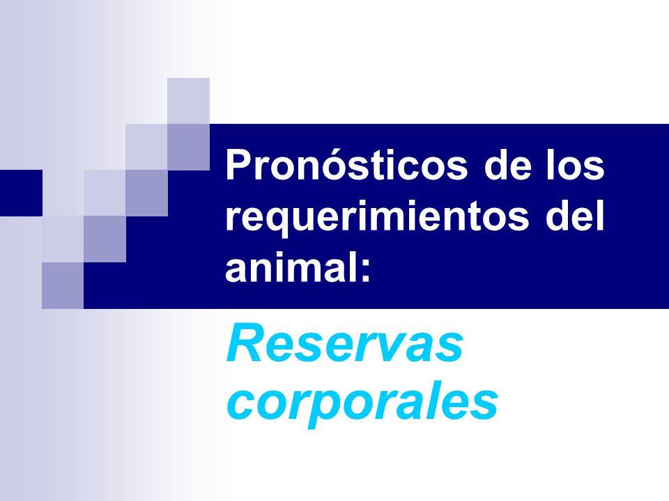 Pronósticos de los requerimientos del animal: